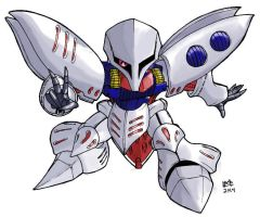 Qubeley Gundam by hinugundam8135