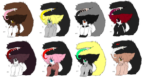 Free Adoptables batch 77 (Closed) by Kitty-of-Doom524