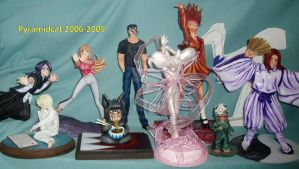 My Anime Sculptures by Pyramidcat