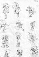 Human Sonic collection 1 by Auroblaze
