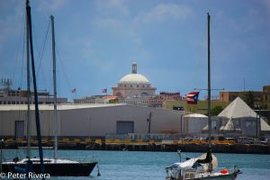 San Juan bay and a view f the capitol by Caramanos2000