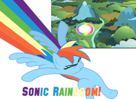 Sonic Rainboom by Dalidarling