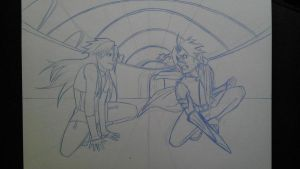 Sin and Edward confrontation. by BlueAero