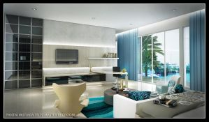 turquoise bed room 2 by satriobajuhitam