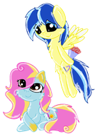 MLP:FiM - Jediel and Sunny Hope by MagicDarkArt