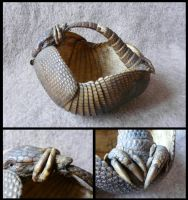 Long-Nosed Armadillo Basket by CabinetCuriosities