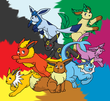 The Eeveelutions by ThePokeWhisperer