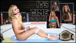 Ronda Rousey bound, ballgagged in the octagon by lordvaderfakes