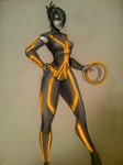 paige tron uprising colors WIP by Sketchydeez