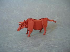 Origami Cow by origami-artist-galen