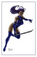 Psylocke Attack! by ChrisMcJunkin