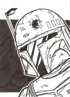 Boba Fett Sketch Card by Tyrant-1