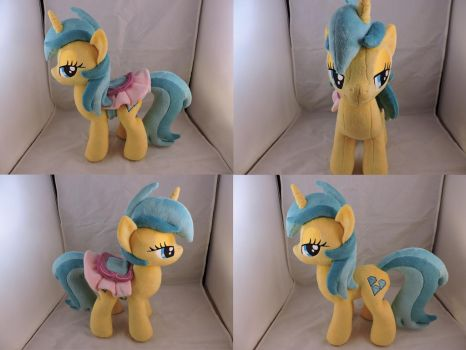 MLP Lemony Gem Plush (commission) by Little-Broy-Peep