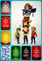 Keep calm with Young Justice :3 by Starfirekicksthebutt