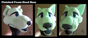 Finished cat foam head base by PawthenticCreations