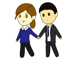 holding hands by p0cketw0tch