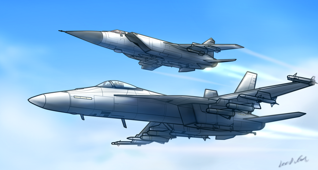 Foxhound and Hornet by oLEEDUEOLo
