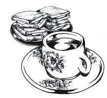 Coffee and toast - linework by anuhesut