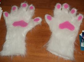 White Wolf Paws by RoseHexwit