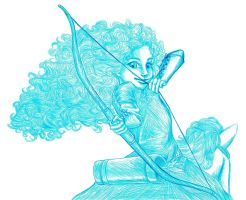 Disney: Merida Doodle by kimberly-castello