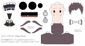 HnKnA Papercraft - Sidney Black by Larry-San