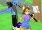Valentine Vixen - Fishing (for wolves) by Doom-the-wolf