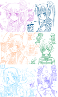 D.Gray-man Chibi paint-chat by Andorea-Chan