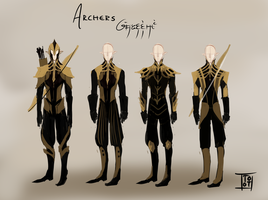 Golden age archer concept art by TotoHiems