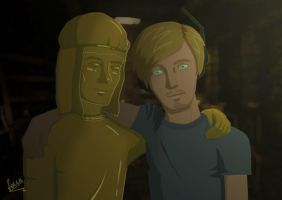 PewDie and Stephano by TheFourthEl