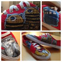 Custom 11th doctor shoes by bunnyluvable