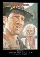 Sketch Card-Indiana Jones 20 by TrevorGrove