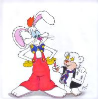 Roger  Rabbit...and  little  Polar? by fredvegerano