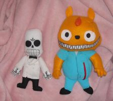Manny and Glottis Chibi Plush by DonutTyphoon