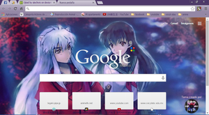 Inuyasha theme google chrome by alechivis