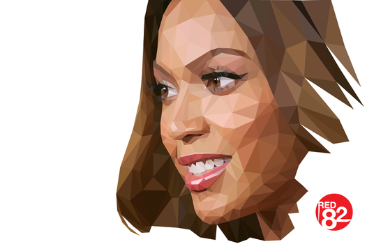 Beyonce Triangulation Vector by rascalous