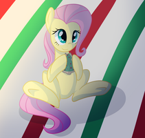 Holiday Fluttershy by Left2Fail