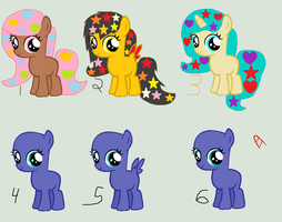 Filly Pony Adopts 2 Open 4 Left by MidnightPizzaShimmer