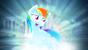 Rainbow Dash - Beautiful Blue Wings by nsaiuvqart