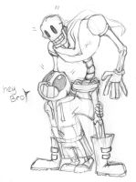 Sans and papyrus by rustyblu