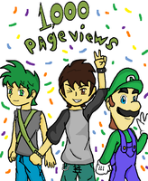 Thank you 1000 page views by luigi2cool