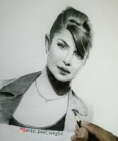 Beautiful @priyankachopra by artistpaulsangbit