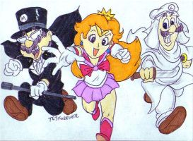 The Mario Gang in Sailor Moon Cosplay by tr3forever