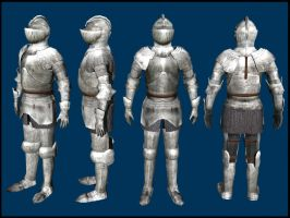 Medieval Knight 3D Model by CaronCC