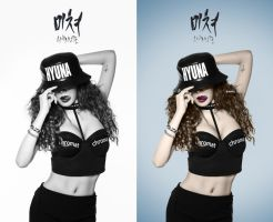 HYUNA CRAZY Coloring Photoshop BY:MAI T. by MaiTAbdallah