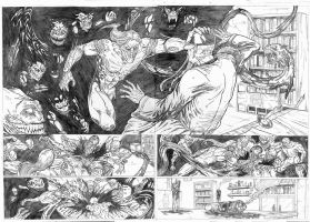 Double splash Page 6 - 7 Test - A3 pencils by IgorChakal