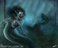 Ugly Ass Mermaid by ForrestImel