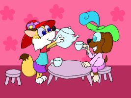 Super Girly Tea Party-Request by EarthVStheDerek