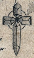 Goth celtic cross design by cytherina