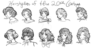 Hairstyles of the 20th Century by karynironsides