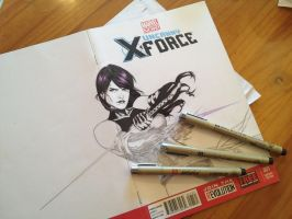 Inking Psylocke by Ace-Continuado
